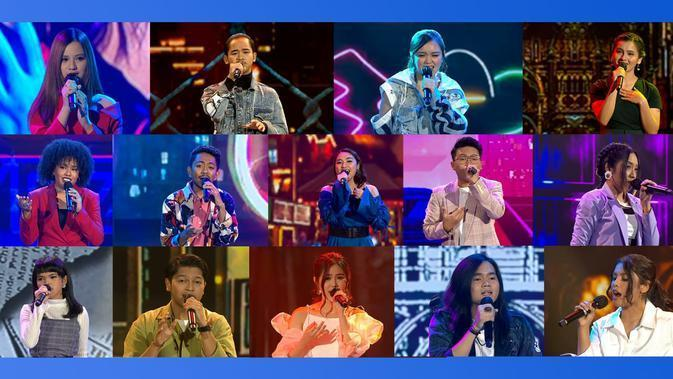 14 Finalis Indonesian Idol (Istimewa)