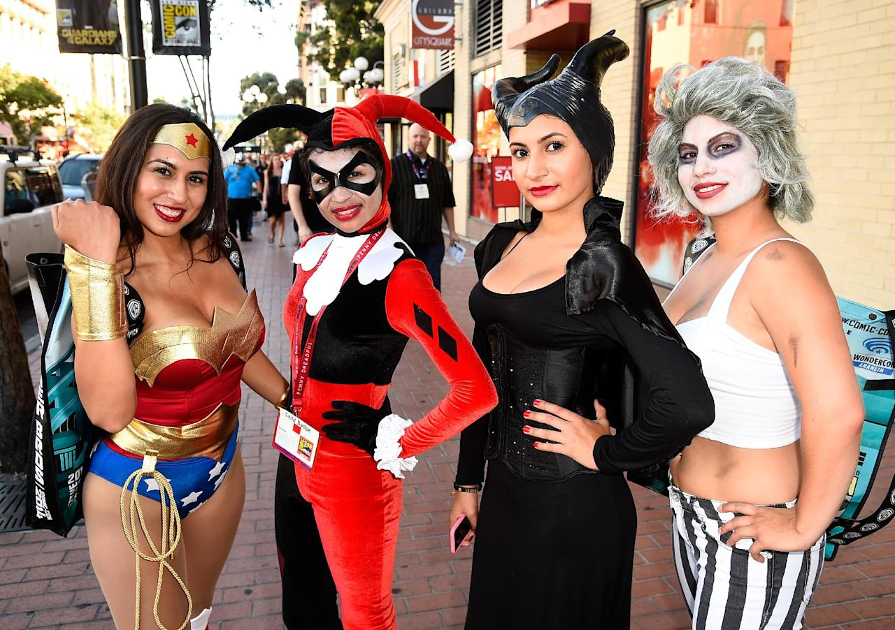 Guests attend Day 1 of Comic-Con International 2014 on July 24, 2014 in San Diego, California (AFP Photo/Frazer Harrison)