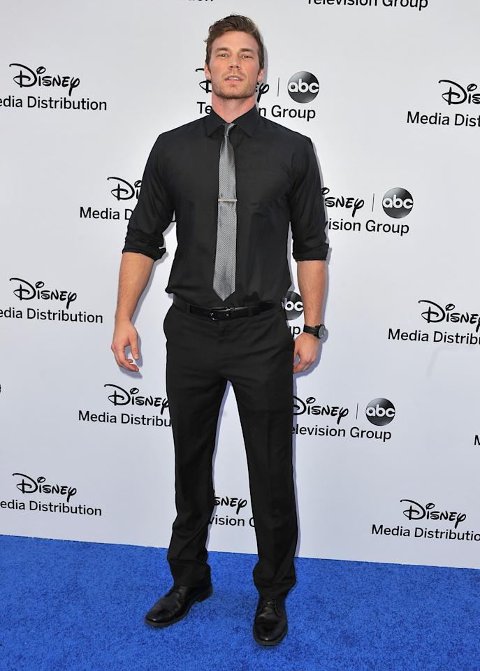 BURBANK, CA - MAY 19:  Actor Derek Theler arrives at the Disney Media Networks International Upfronts at Walt Disney Studios on May 19, 2013 in Burbank, California.  (Photo by Angela Weiss/Getty Images)