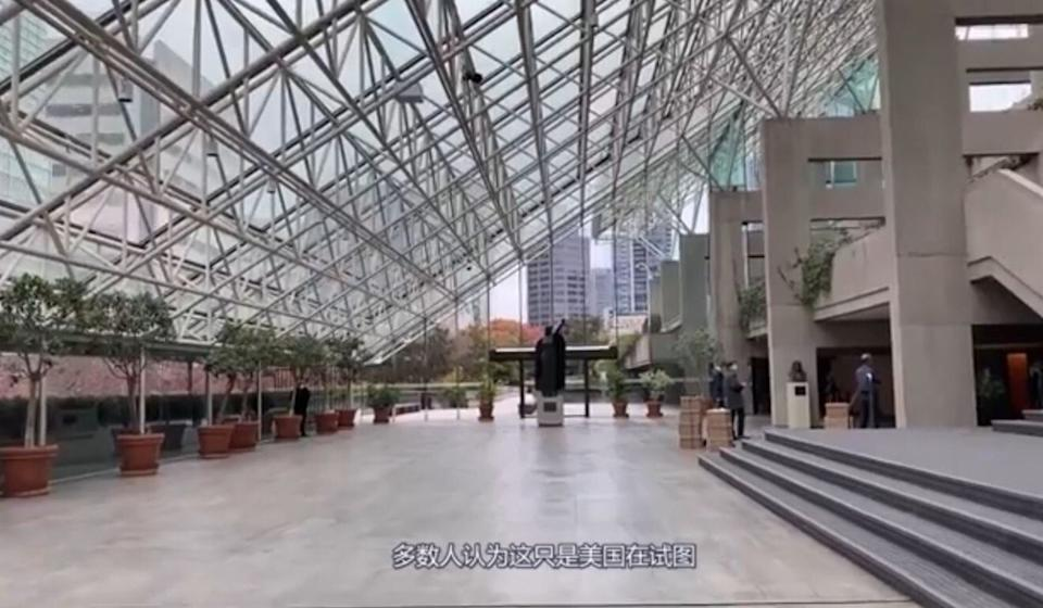The interior of the British Columbia Superior Courts complex in Vancouver is seen in this footage from a video by YouTuber Cyrus Janssen. Filming inside the complex is forbidden. Photo: YouTube/Cyrus Janssen