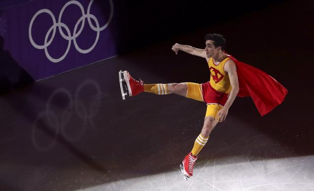 Figure Skating - Pyeongchang 2018 Winter Olympics - Gala Exhibition - Gangneung Ice Arena - Gangneung, South Korea - February 25, 2018 - Javier Fernandez of Spain performs. REUTERS/Lucy Nicholson