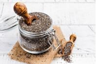 """<p>Talk about small but mighty. Just two tablespoons of <a href=""""https://www.prevention.com/food-nutrition/healthy-eating/a19596889/health-benefits-of-chia-seeds/"""" rel=""""nofollow noopener"""" target=""""_blank"""" data-ylk=""""slk:chia seeds"""" class=""""link rapid-noclick-resp"""">chia seeds</a> delivers 5 grams of fiber. That's important, since fiber encourages the growth of short-chain fatty acid in the gut that have anti-inflammatory and anti-cancer properties, <a href=""""https://www.ncbi.nlm.nih.gov/pmc/articles/PMC3926973/"""" rel=""""nofollow noopener"""" target=""""_blank"""" data-ylk=""""slk:research shows"""" class=""""link rapid-noclick-resp"""">research shows</a>. The seeds are also a top source of ALA omega-3 fatty acids, offering 5 grams per serving.</p><p><strong>Try it:</strong> <a href=""""https://www.prevention.com/food-nutrition/a30170512/vanilla-chia-seed-pudding-recipe/"""" rel=""""nofollow noopener"""" target=""""_blank"""" data-ylk=""""slk:Vanilla Chia Seed Pudding"""" class=""""link rapid-noclick-resp"""">Vanilla Chia Seed Pudding</a></p>"""
