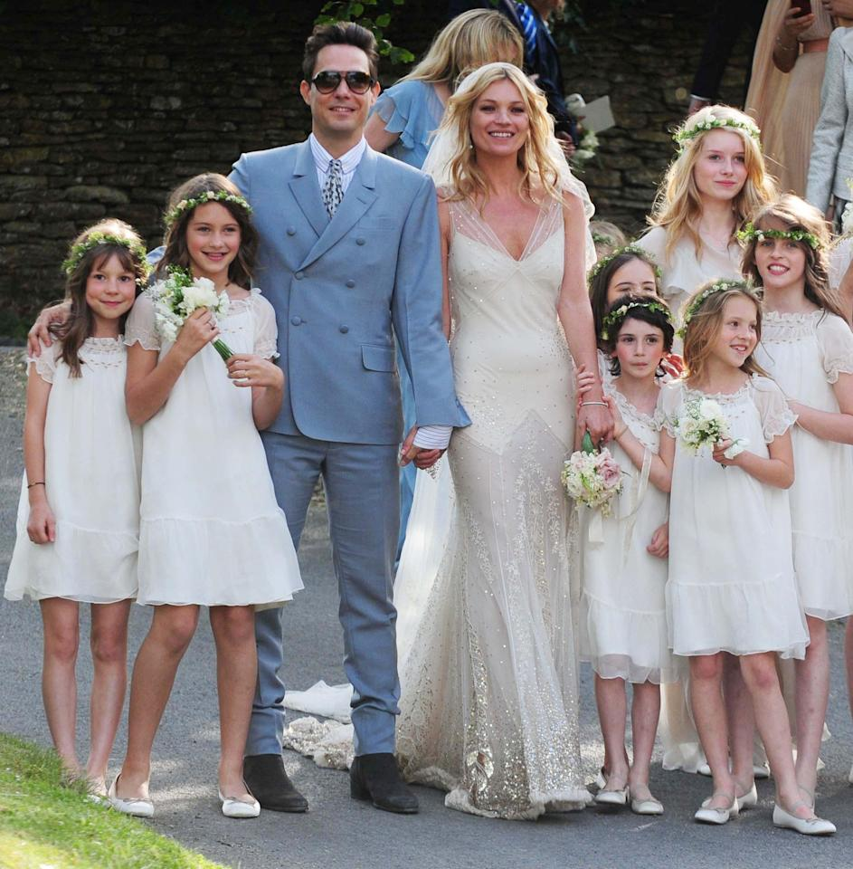<p>Lottie Moss hit the headlines for the first time when she was asked to be bridesmaid at her half-sister Kate's wedding to Jamie Hince in 2011. The fresh-faced teen has since gone on to follow in Kate's modelling footsteps… <em>[Photo: PA]</em> </p>