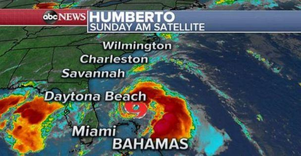 PHOTO: Tropical Storm Humberto is moving slowly at 7 mph off the coast of Florida. (ABC News)