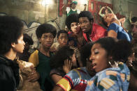 "<p><b>The 30-second pitch:</b> Allow <i>The Get Down</i>'s chief creative advisor, Nelson George, to set the scene for <i>Moulin Rouge!</i> director Baz Lurhmann's latest period musical: ""New York, 1970s, hip-hop, disco, chaos, opportunity."" The Brooklyn-born journalist and author was present for those heady early years of the Bronx-based hip-hop movement, and helped EPs Lurhmann and Shawn Ryan recreate that vanished era of New York, seen through the eyes of three teenagers looking for opportunities amidst the chaos of their embattled neighborhood.<br><br><b>Musical melange:</b> Although <i>Moulin Rouge!</i> took place in the 19th century, the characters often sang distinctly 20th century tunes from ""Your Song"" to ""Like a Virgin."" George says that <i>The Get Down</i> will have a similarly era-spanning soundtrack. ""If there's music coming out of a radio, it's probably from the right year. But we also take contemporary songs made for the show and an original score and mix them altogether. It's very ambitious."" <i>— Ethan Alter</i><br><br><i>(Credit: Netflix)</i> </p>"
