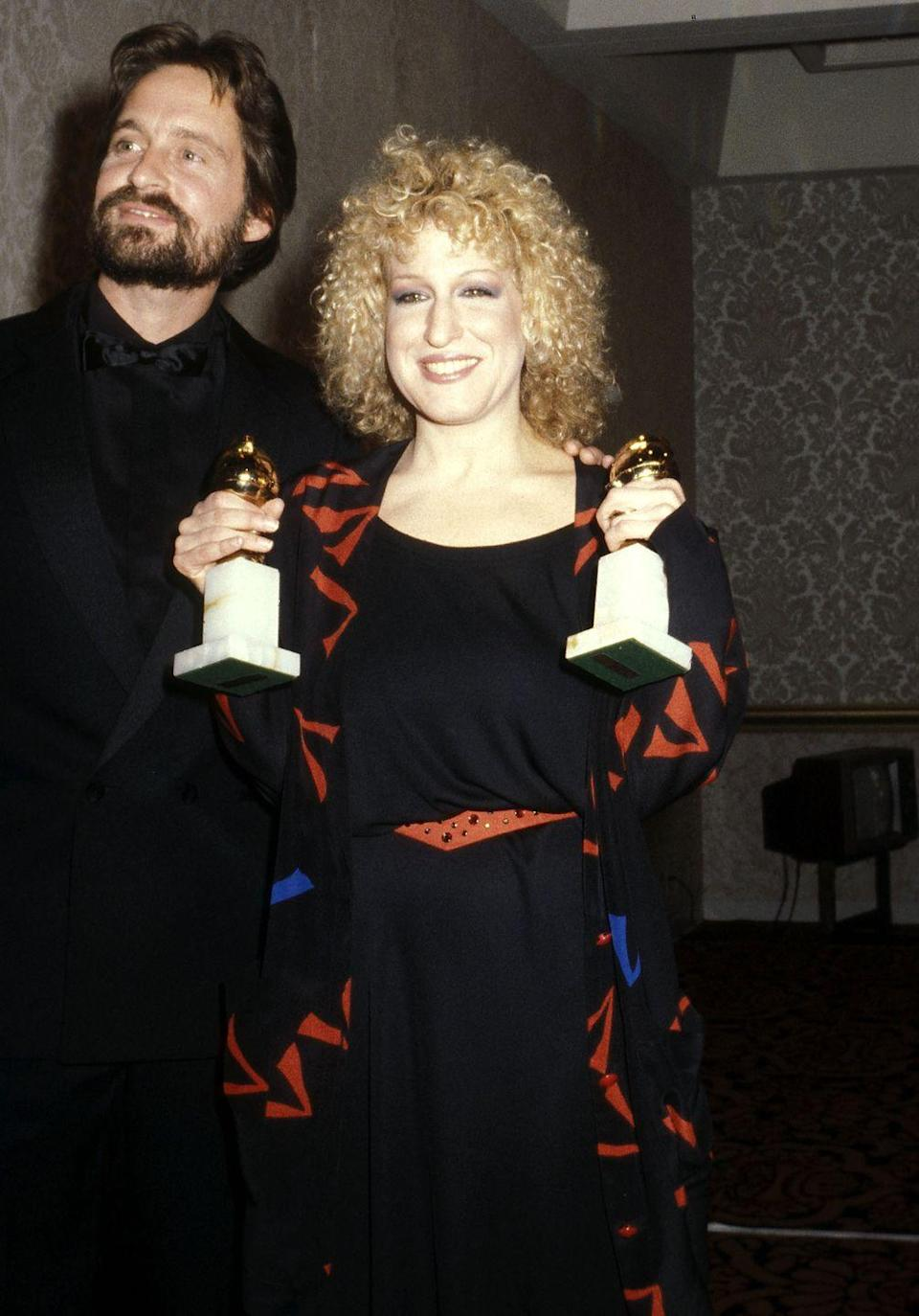 <p>The singer and actress bagged two Golden Globes in 1980, wearing this geometric-patterned ensemble.</p>
