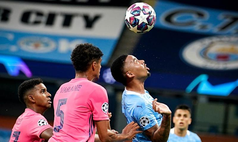 Gabriel Jesus scored in both legs of Manchester City's Champions League last-16 tie against Real Madrid.