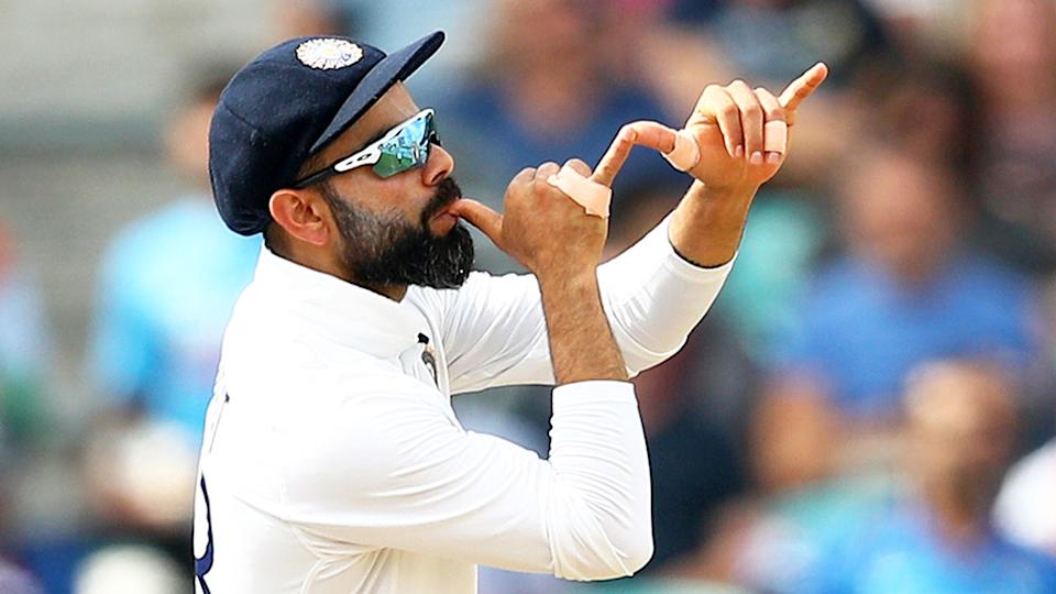 Virat Kohli's gesture towards England fans became a big talking point in the fourth Test. Pic: Getty
