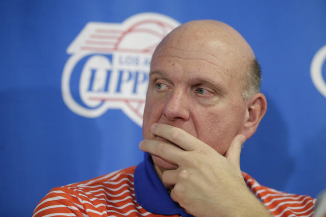 The Clippers misfired in sending out a tweet promoting a dating app. (AP Photo/Jae C. Hong)
