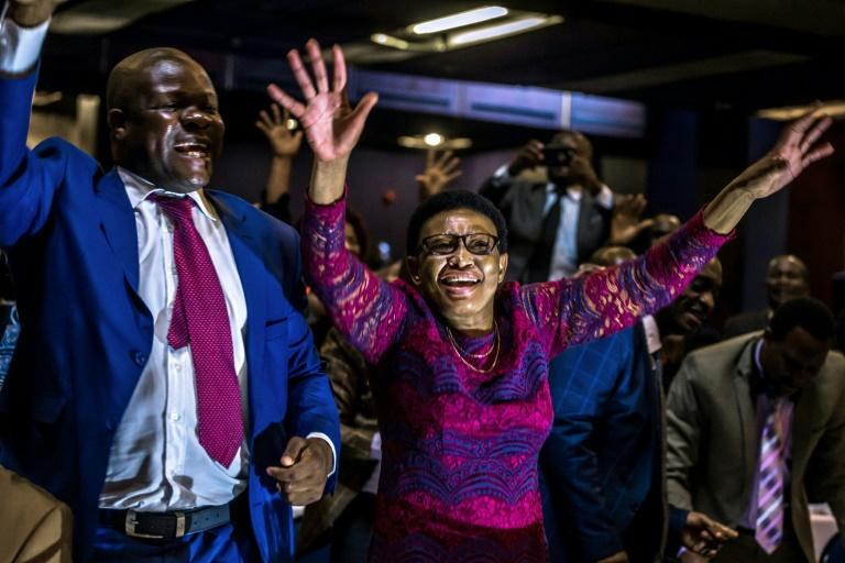 The celebrations began in parliament where Robert Mugabe's resignation letter was read out in a bombshell announcement