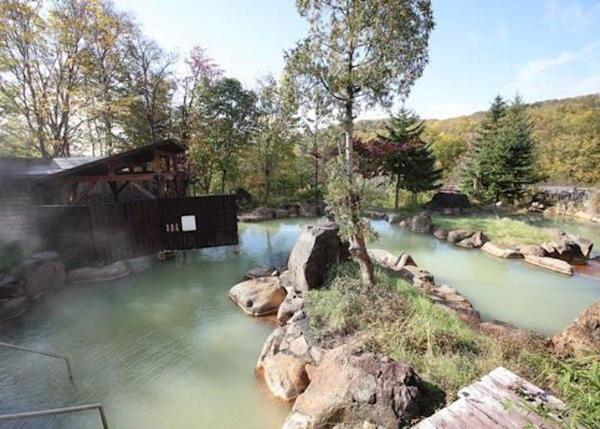 ▲The Rejuvenation Hot Spring; its features are 2 types of spring qualities and a big mixed open-air bath.