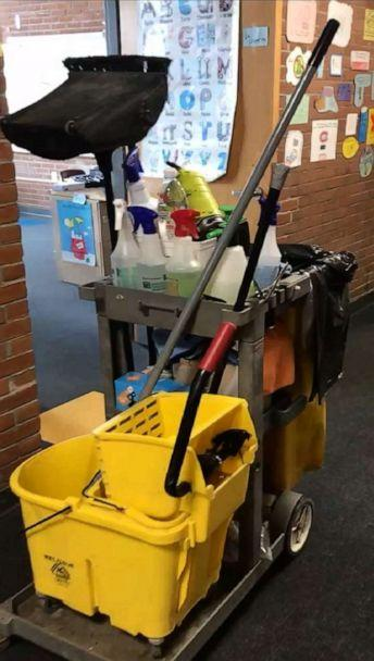 PHOTO: For precautionary measures janitors did a two-day, thorough cleaning of both Allen Brook School and Williston Central in Williston, Vermont, amid the novel coronavirus outbreak. (Lyall Smith)