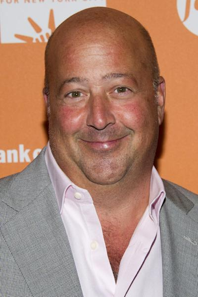 """FILE - In this Oct. 11, 2012 file photo, Andrew Zimmern attends """"On The Chopping Block: A Roast of Anthony Bourdain"""" in New York. The James Beard Foundation honored winners in media and publishing in New York on Friday, May 3, 2013, including Zimmern of Travel Channel's """"Bizarre Foods America."""" He was named outstanding host. (Photo by Charles Sykes/Invision/AP Images, File)"""