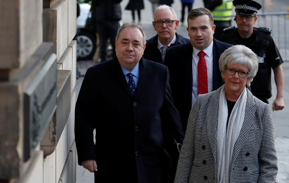Former First Minister of Scotland Alex Salmond arrives at the High Court in Edinburgh, Scotland, Britain November 21, 2019. REUTERS/Russell Cheyne