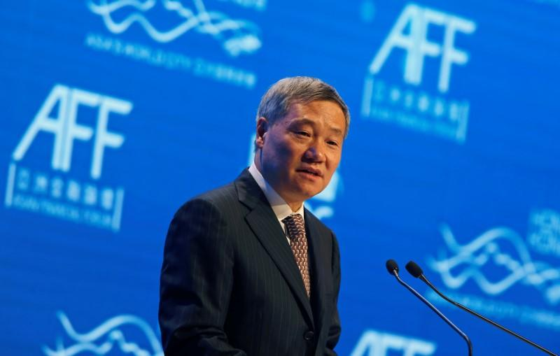 Xiao addresses the Asian Financial Forum in Hong Kong