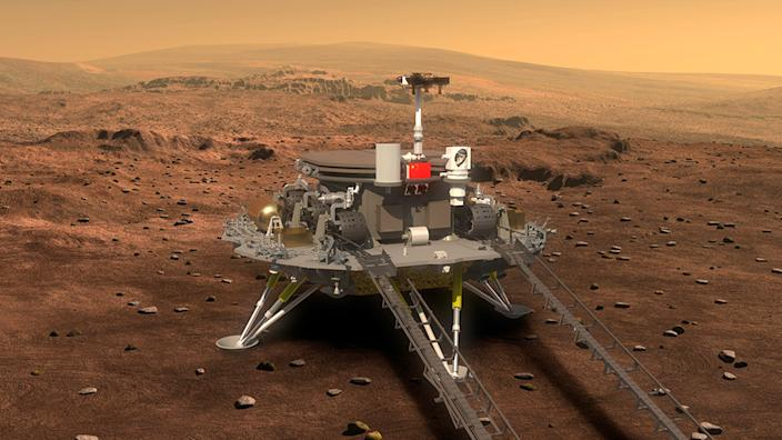 Artwork: The Tianwen-1 rover is built to work for at least 90 Martian days