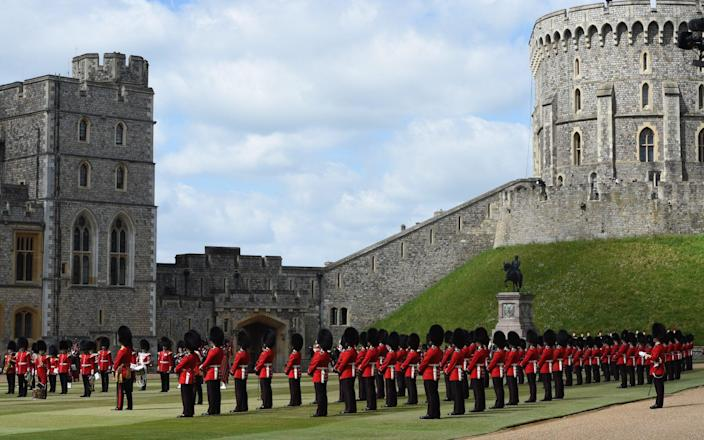 The Queen will view a military parade in the Quadrangle of Windsor Castle - EDDIE MULHOLLAND FOR THE TELEGRAPH