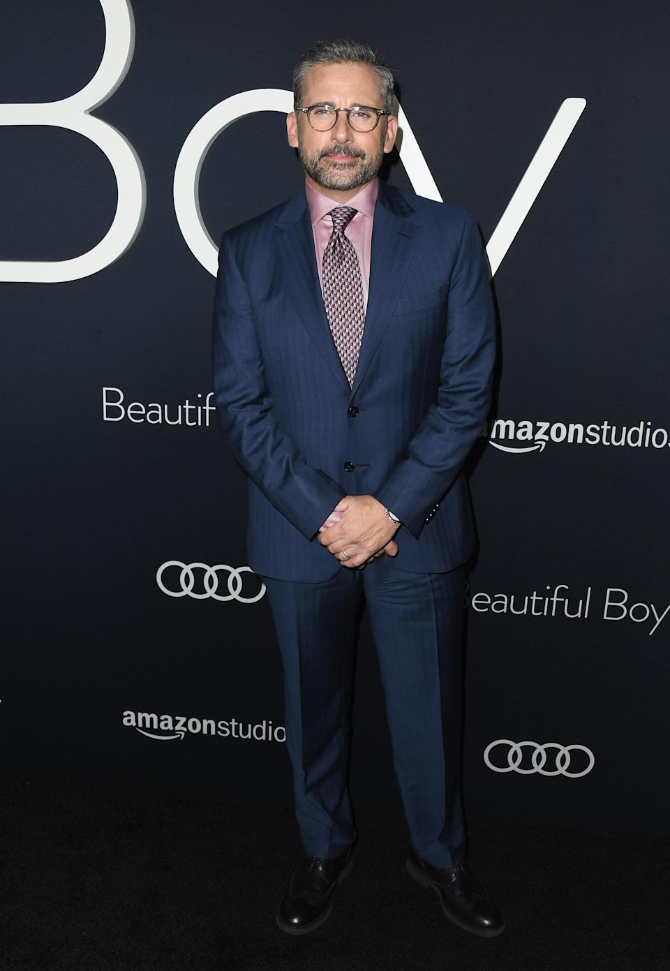 """<p>The actor suited up for the premiere of """"Beautiful Boy"""" in Beverly Hills on October 8. <em>[Photo: Getty]</em> </p>"""