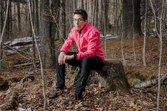 """Alison Bechdel is a cartoonist known for her long-running comic strip Dykes to Watch Out For and her graphic memoirs including """"Fun Home"""" and """"Are You My Mother?"""" Her forthcoming graphic memoir """"The Secret to Superhuman Strength"""" examines her life-long obsession with exercise, including running along dirt roads and trails near her home in northern Vermont."""