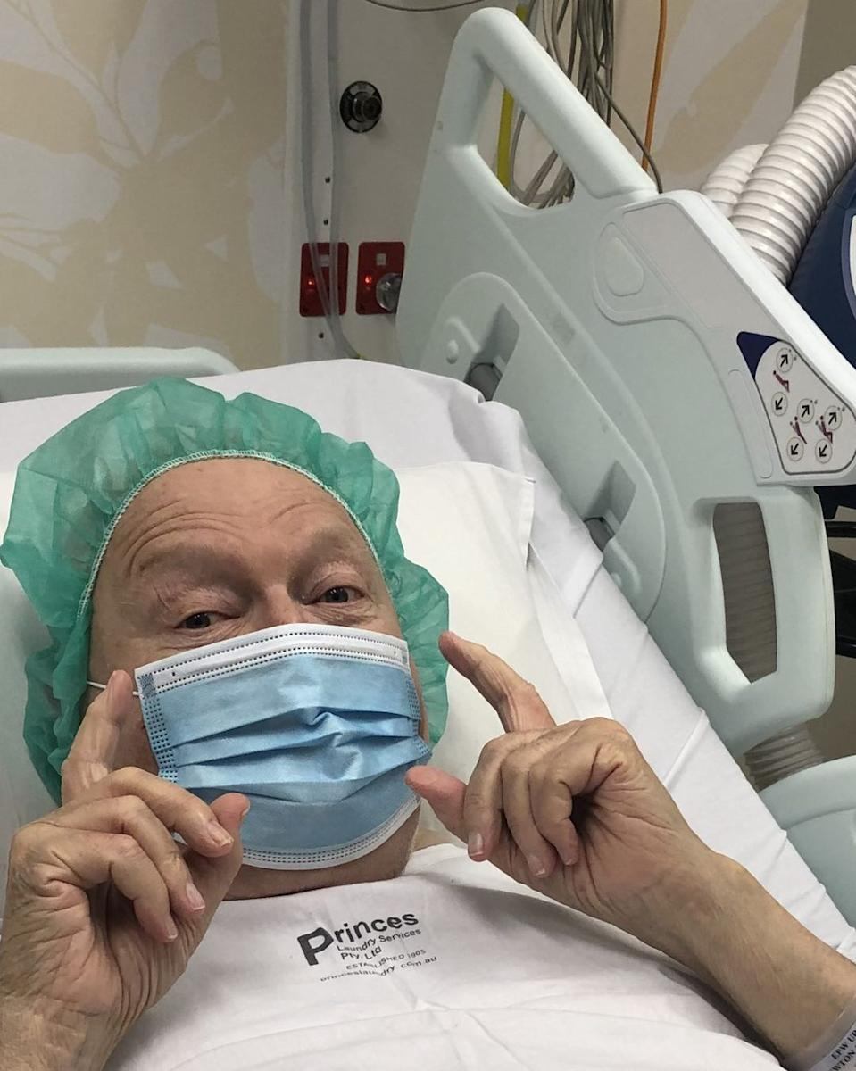 Bert Newton in hospital