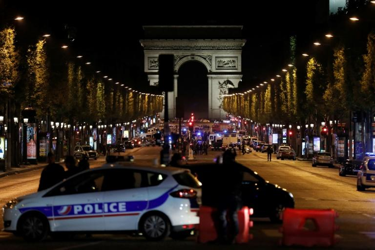A gunman on April 21, 2017 opened fire on a police van just a few hundred metres from the iconic Arc de Triomphe in central Paris