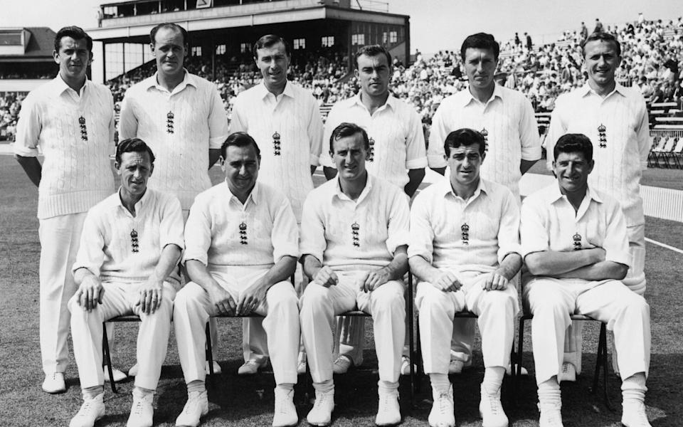 England's Test side in 1963 with Dexter in the centre of the front row - Hutton Archive