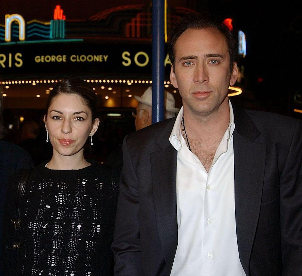 <p>Sofia's father, Francis Ford Coppola, is the uncle of Nicolas Cage, making these two cousins. In fact, Nicolas actually changed his last name when he started acting to separate himself from his famous fam. </p>