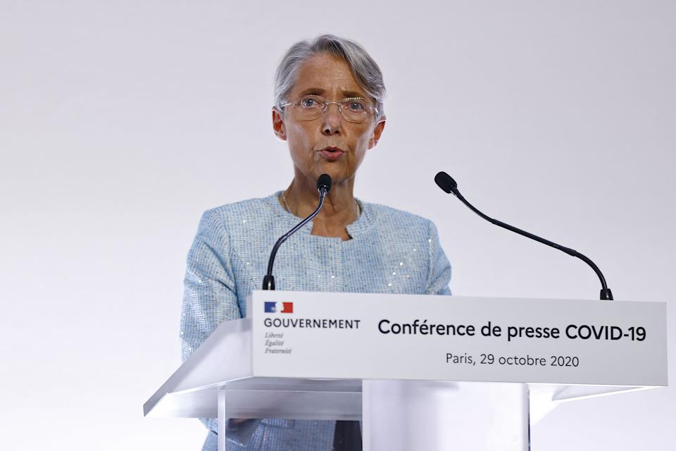 Élisabeth Borne, ici à Paris le 29 octobre 2020. (Photo: IAN LANGSDON / Getty Images)
