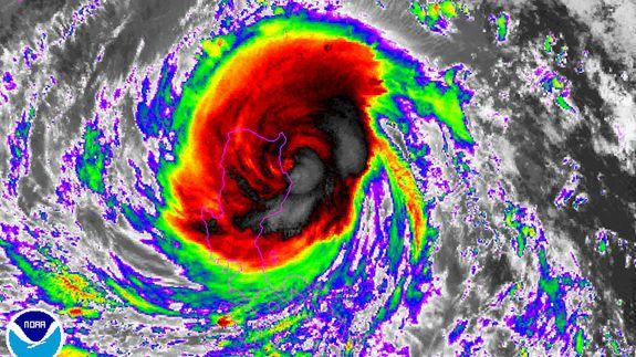 Typhoon Haima strikes the Philippines as a Category 4 storm