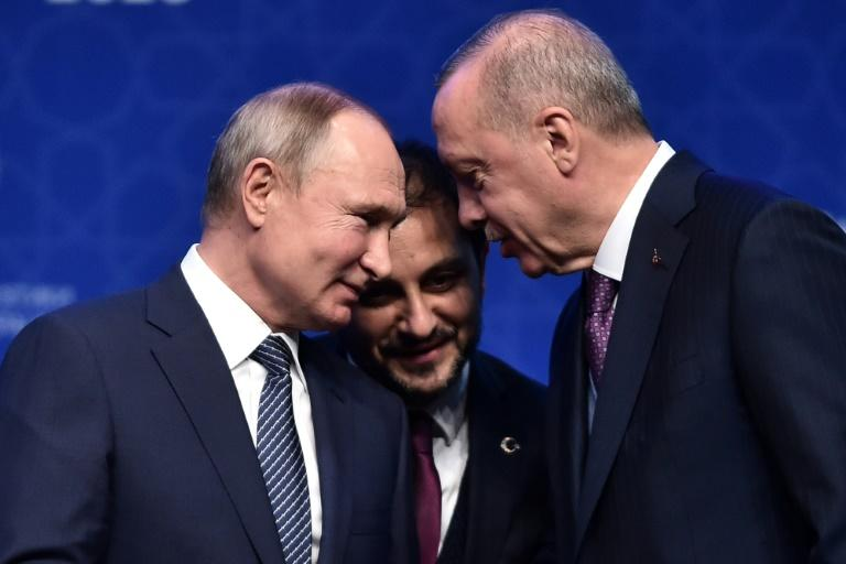 Russian forces have held back from attacking Turkish drones in Syria ahead of a meeting between the two countries' leaders (AFP Photo/Ozan KOSE)
