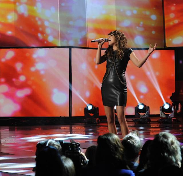 "Angie Miller performs Celine Dion's ""I Surrender"" on the Wednesday, March 13 episode of ""American Idol."""