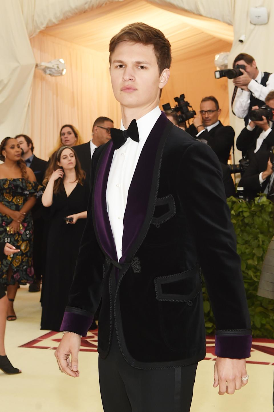 """<h1 class=""""title"""">Ansel Elgort in Ralph Lauren</h1><cite class=""""credit"""">Photo: Getty Images</cite>"""