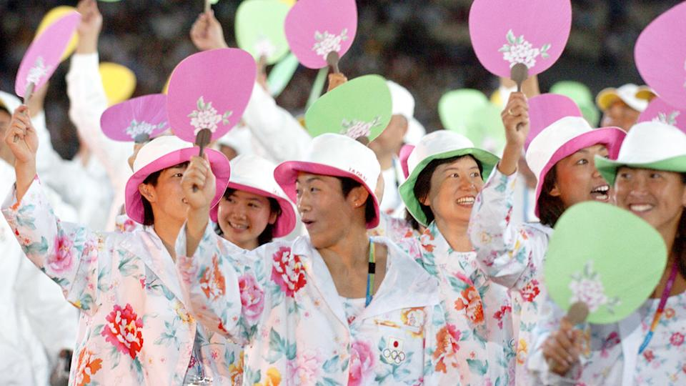 Team Japan at the Athens Olympics