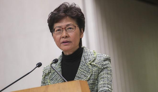Carrie Lam says the government will not yield to violence. Photo: May Tse
