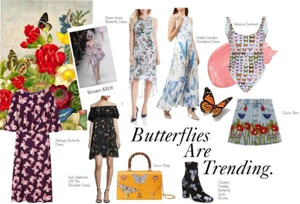 Butterfly Fashion Inspired By Versace SS18