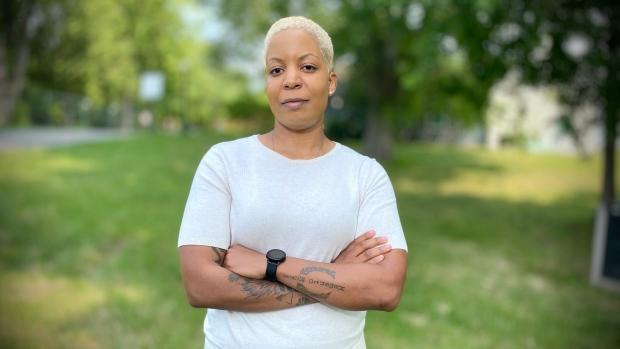 Joelle Hainzelin, a former protective services officer at the Royal Canadian Mint, says she was subjected to racism and sexual harassment while working at the Crown corporation. (Christian Patry/CBC - image credit)
