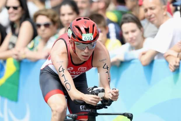 Canada's Stefan Daniel, seen above in 2016, took bronze in the men's Para triathlon PTS5 event at the Tokyo Paralympics on Sunday in Japan.  (Matthew Stockman/Getty Images - image credit)