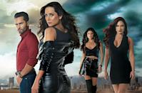 """<p><em>Sin Senos sí hay paraiso </em>is technically a sequel to the 2008 Colombian telenovela, <em>Sin senos no hay paraiso</em>. The premise is something else, really. <a href=""""https://peopleenespanol.com/article/theres-no-paradise-without-catherine/"""" rel=""""nofollow noopener"""" target=""""_blank"""" data-ylk=""""slk:Based on a true story"""" class=""""link rapid-noclick-resp"""">Based on a true story</a>, the first telenovela is about a young woman who believes she needs breast implants to climb her way up the ladder. In the sequel, her sister decides to take a different route. </p><p><a class=""""link rapid-noclick-resp"""" href=""""https://www.netflix.com/search?q=sin+senos&jbv=80153272"""" rel=""""nofollow noopener"""" target=""""_blank"""" data-ylk=""""slk:Watch Now"""">Watch Now</a></p>"""