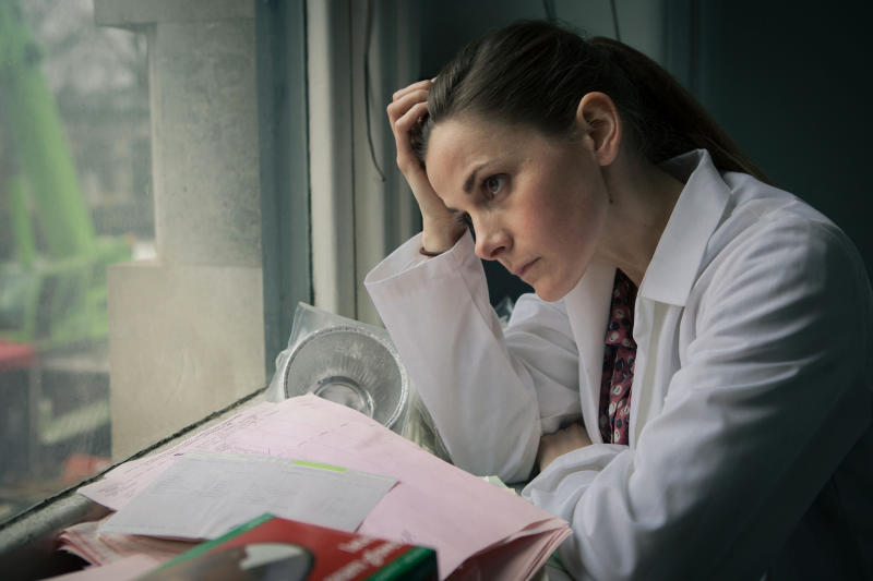 "This photo provided by PBS shows Louise Brealey, as Molly Hooper, in a scene from Season 3, ""The Empty Hearse"" episode of Masterpiece's ""Sherlock,"" which aired on Jan. 19, 2014, on PBS. Steven Moffat, co-creator of ""Sherlock,"" said the show is a hit in China and many other countries. (AP Photo/PBS/Masterpiece, Robert Viglasky/Hartswood Films)"