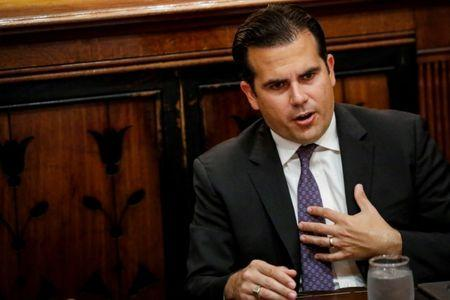 FILE PHOTO:    Puerto Rico Governor Ricardo Rossello speaks during an interview in New York City