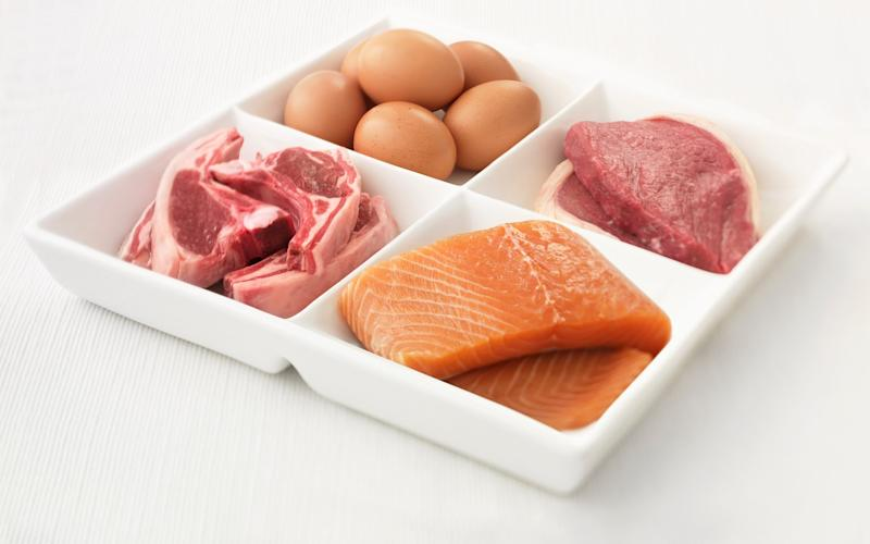 The average adult needs 0.75g of protein daily per kilo they weigh - and most of us eat too much - This content is subject to copyright.