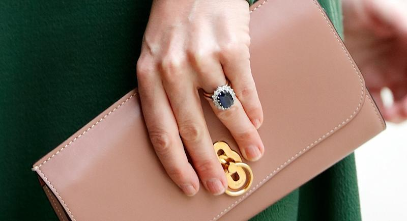 You can now buy an almost identical version of Kate Middleton's ring from Marks and Spencer [Image: Getty]
