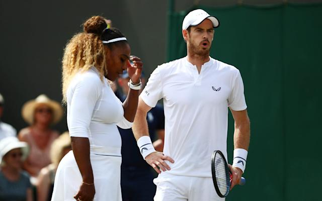 Serena Williams of the U.S. and Britain's Andy Murray bowed out on Wednesday - REUTERS