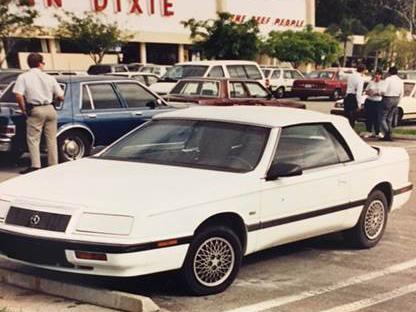 The white convertible Chrysler police believe Sheila Keen Warren used in the murder (Palm Beach County Sheriff's Office )