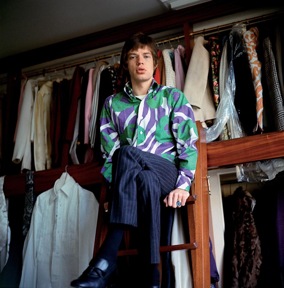 Mick Jagger at home. Harley House, Marylebone RoadGered Mankowitz