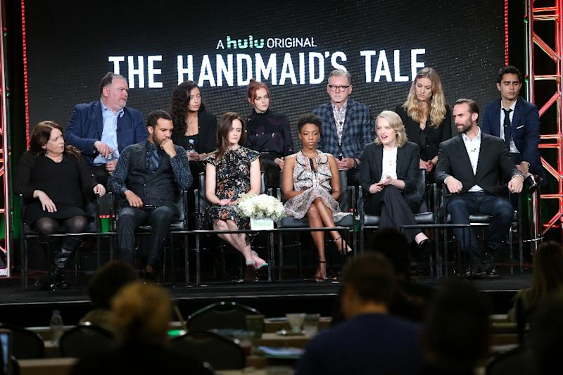 "Hulu has gained viewers with its original production ""The Handmaid's Tale"" (AFP Photo/Frederick M. Brown)"