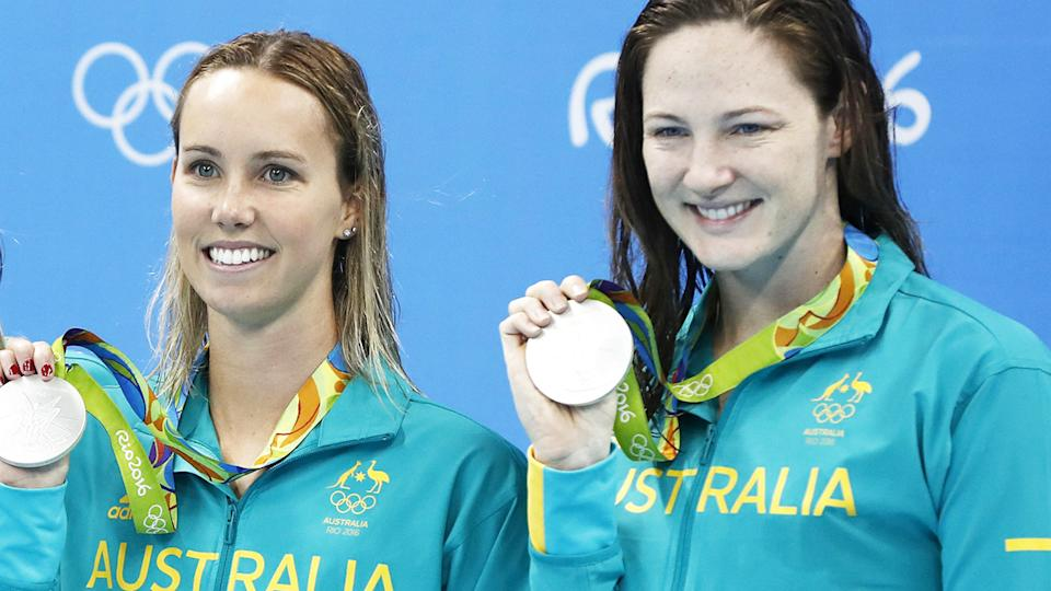 Emma McKeon and Cate Campbell, pictured here at the 2016 Olympics.