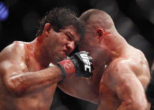 Gilbert Melendez and Diego Sanchez were in an all-out war on Saturday. (USA Today)