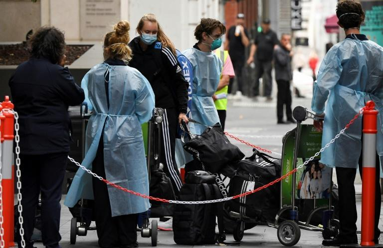 Bio-security at the players' hotels in Melbourne is being strictly enforced after a fourth case of Covid was revealed on an incoming flight