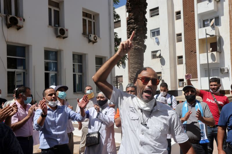 Moroccan medics protest over conditions, staff shortages as pandemic surges